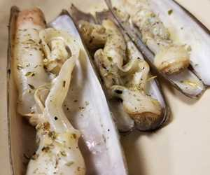Solines- grilled razor clams